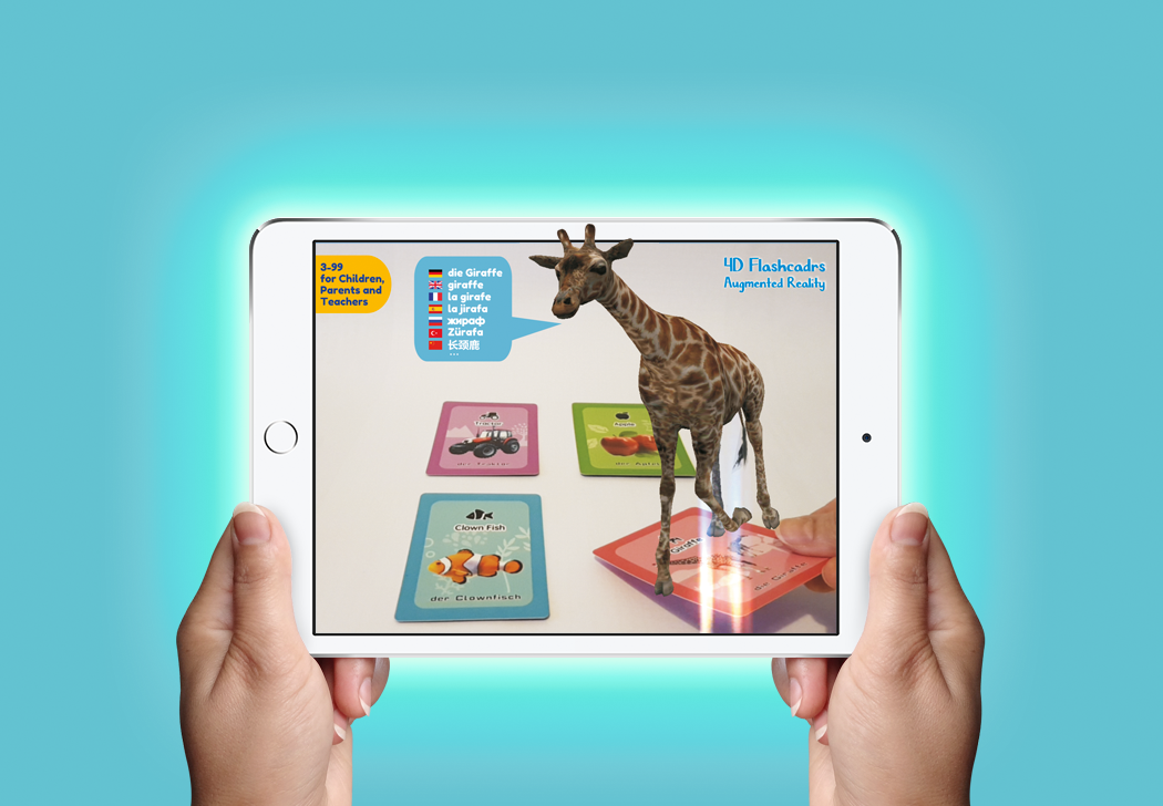 AR Flashcards - Games for Learning Languages - AR 4D Flashcards